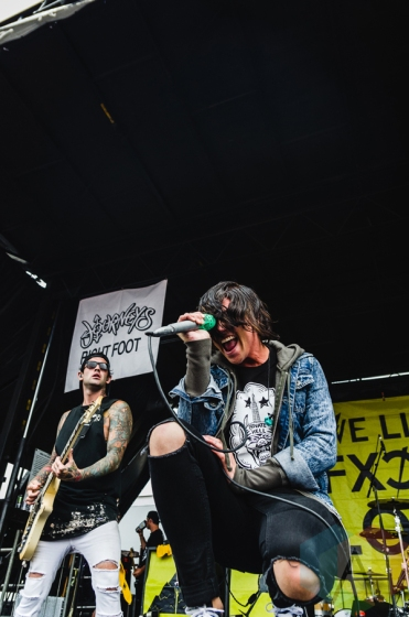 Sleeping With Sirens performing at Warped Tour 2016 at Jones Beach Theater in Long Island, New York on July 9, 2016. (Photo: Saidy Lopez/Aesthetic Magazine)