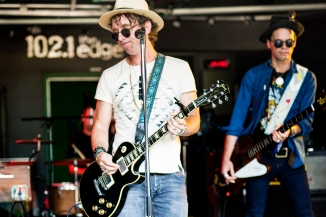 The Trews performing at 102.1 The Edge in Toronto on August 30, 2016. (Photo: Philip C. Perron/Aesthetic Magazine)