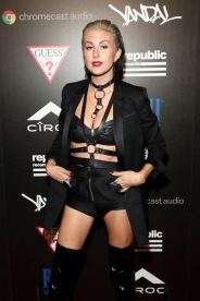 Sarah Barthel of Phantogram attends the Republic Records afterparty following the 2016 MTV Video Music Awards on August 28, 2016 at Vandal in New York City. (Photo: Rob Kim/Getty)