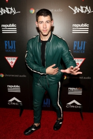 NEW YORK, NY - AUGUST 28: Island Records Artist Nick Jonas attends a celebration with Republic Records and Guess after the 2016 MTV Video Music Awards at Vandal with cocktails by Ciroc on August 28, 2016 in New York City. (Photo by Rob Kim/Getty Images for Republic Records)