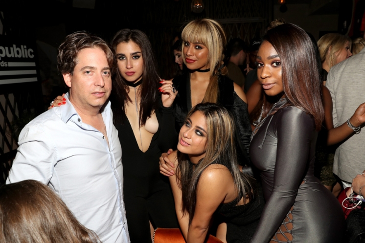 Charlie Walk and members of Fifth Harmony attend the Republic Records afterparty following the 2016 MTV Video Music Awards on August 28, 2016 at Vandal in New York City. (Photo: Rob Kim/Getty)