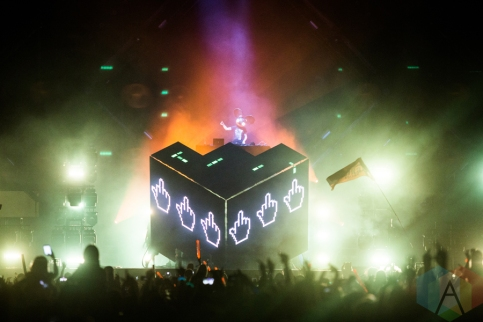Deadmau5 performing at the VELD Music Festival in Toronto on July 30, 2016 (Photo: Brandon Newfield/Aesthetic Magazine)