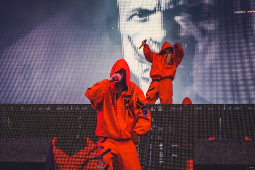 Die Antwoord performing at Leeds Festival on August 27, 2016. (Photo: Sarah Koury)
