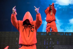 Die Antwoord performing at Leeds Festival on August 27, 2016. (Photo: Ben Gibson)