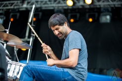 The Rural Alberta Advantage performing at Riverfest Elora on August 20, 2016. (Photo: Orest Dorosh/Aesthetic Magazine)