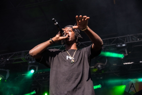 Joey Badass performing at Time Festival in Toronto on August 6, 2016. (Photo: Brandon Newfield/Aesthetic Magazine)