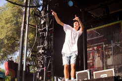 Louis The Child performing at the Mad Decent Block Party at Fort York in Toronto on August 19, 2016. (Photo: Brandon Newfield/Aesthetic Magazine)