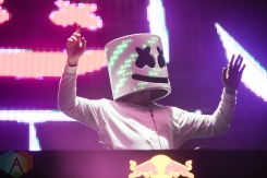 Marshmello performing at the Mad Decent Block Party at Fort York in Toronto on August 19, 2016. (Photo: Brandon Newfield/Aesthetic Magazine)