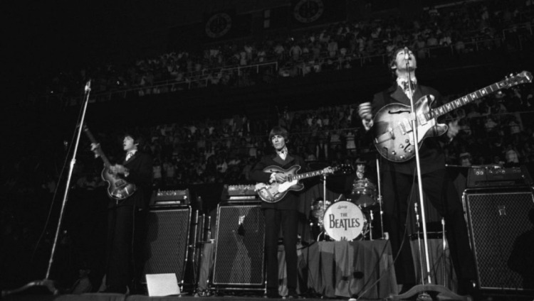 The Beatles perform a sold out show at Maple Leaf Gardens in Toronto on September 7, 1964. (Photo: Boris Spremo)