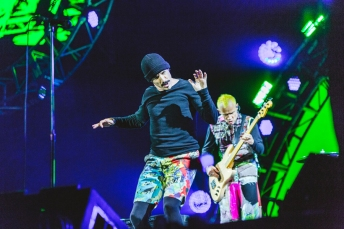 Red Hot Chili Peppers performing at Leeds Festival on August 28, 2016. (Photo: Lauren Maccabee)