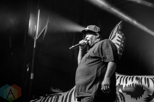 Run The Jewels performing at Time Festival in Toronto on August 6, 2016. (Photo: Brandon Newfield/Aesthetic Magazine)