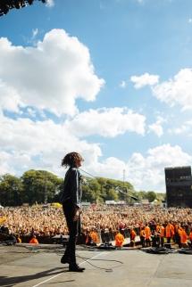Sleeping With Sirens performing at Leeds Festival on August 26, 2016. (Photo: Adam Elmakias)