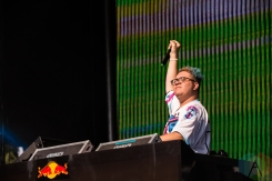 Slushii performing at the Mad Decent Block Party at Fort York in Toronto on August 19, 2016. (Photo: Brandon Newfield/Aesthetic Magazine)