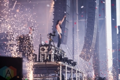 Steve Aoki performing at the VELD Music Festival in Toronto on July 30, 2016 (Photo: Brandon Newfield/Aesthetic Magazine)