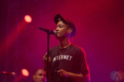 The Internet performing at Leeds Festival on August 27, 2016. (Photo: Priti Shikotra/Aesthetic Magazine)