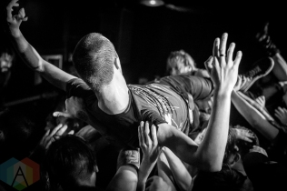 The Dillinger Escape Plan performing at the Hard Luck Bar in Toronto on August 5, 2016. (Photo: Brendan Albert/Aesthetic Magazine)