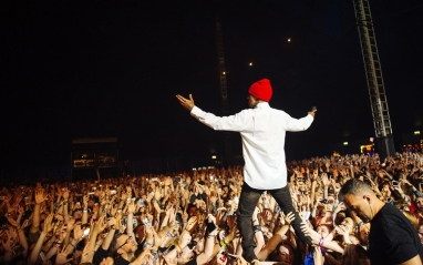 Twenty One Pilots performing at Leeds Festival on August 27, 2016. (Photo: Adam Elmakias)