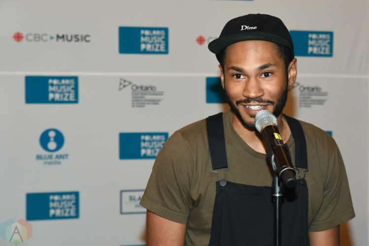 Kaytranada at the 2016 Polaris Music Prize gala in Toronto on September 20, 2016. (Photo: Jaime Espinoza/Aesthetic Magazine)