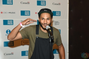 Kaytranada attends the Polaris Music Prize gala at the Carlu in Toronto on September 19, 2016. (Photo: Jaime Espinoza/Aesthetic Magazine)