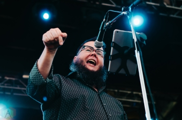 Shane Koyczan and the Short Story Long performing at the Rifflandia Music Festival in Victoria, British Columbia on September 18, 2016. (Photo: Timothy Nguyen/Aesthetic Magazine)