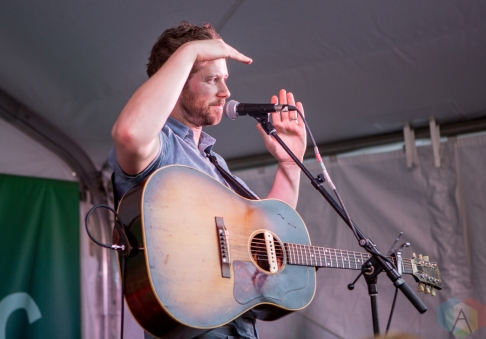 Dan Mangan performing at Union Station in Toronto on September 5, 2016. (Photo: Katrina Lat/Aesthetic Magazine)