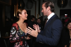 "(L-R) Actors Brie Larson and Armie Hammer attend the ""Free Fire"" premiere screening party hosted by Bulleit at Early Mercy during TIFF 2016 on September 8, 2016 in Toronto, Canada. (Photo: Todd Williamson/Getty)"