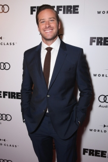 "Actor Armie Hammer attends the ""Free Fire"" premiere screening party hosted by Bulleit at Early Mercy during TIFF 2016 on September 8, 2016 in Toronto, Canada. (Photo: Todd Williamson/Getty)"