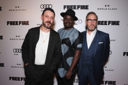 "(L-R) Actors Enzo Cilenti, Babou Ceesay and Michael Smiley attend the ""Free Fire"" premiere screening party hosted by Bulleit at Early Mercy during TIFF 2016 on September 8, 2016 in Toronto, Canada. (Photo: Todd Williamson/Getty)"
