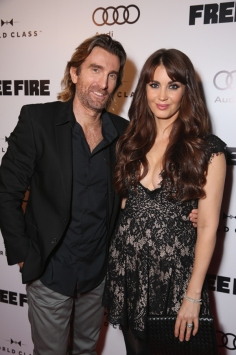 "Actor Sharlto Copley and Tanit Phoenix attend the ""Free Fire"" premiere screening party hosted by Bulleit at Early Mercy during TIFF 2016 on September 8, 2016 in Toronto, Canada. (Photo: Todd Williamson/Getty)"
