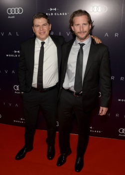 """Producers Dan Levine (L) and Aaron Ryder attend the """"Arrival"""" premiere screening party at Storys Building on September 12, 2016 in Toronto, Canada during TIFF 2016. (Photo: Matt Winkelmeyer)"""