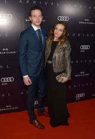 """Actors Mark O'Brien (L) and Georgina Reilly attend the """"Arrival"""" premiere screening party at Storys Building on September 12, 2016 in Toronto, Canada during TIFF 2016. (Photo: Matt Winkelmeyer)"""