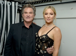 "Actors Kurt Russell (L) and Kate Hudson attend the ""Deepwater Horizon"" premiere screening afterparty at The Addison Residence on September 13, 2016 in Toronto, Canada during TIFF 2016. (Photo: Matt Winkelmeyer/Getty)"