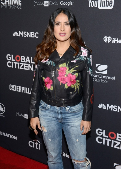 Actress Salma Hayek attends the 2016 Global Citizen Festival in Central Park in New York City on September 24, 2016. (Photo: Theo Wargo/Getty)