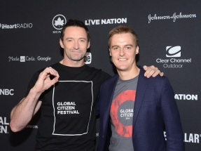 Actor Hugh Jackman and co-Founder and CEO of Global Citizen Hugh Evans attend the 2016 Global Citizen Festival in Central Park in New York City on September 24, 2016. (Photo: Noam Galai/Getty)
