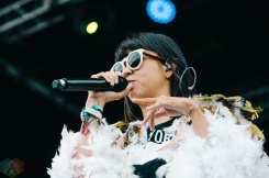 Bomba Estereo performing at the Rifflandia Music Festival in Victoria, British Columbia on September 16, 2016. (Photo: Timothy Nguyen/Aesthetic Magazine)