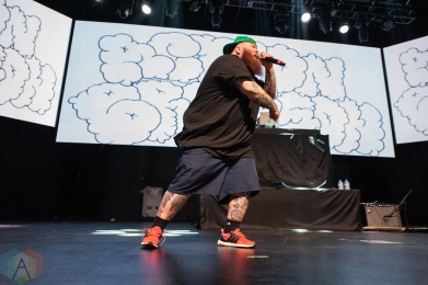 Action Bronson performing at the Sound Academy in Toronto on September 8, 2016. (Photo: Jason Hodgins/Aesthetic Magazine)