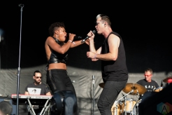 Fitz And The Tantrums performing at Riot Fest Chicago on September 17, 2016. (Photo: Katie Kuropas/Aesthetic Magazine)