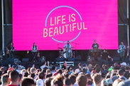 The Strumbellas perform at the Life Is Beautiful Music Festival in Las Vegas on September 25, 2016. (Photo: Meghan Lee/Aesthetic Magazine)