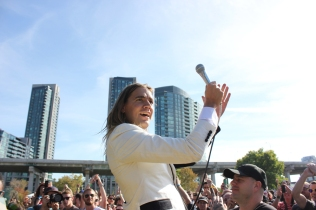 The Hives performing at the Toronto Urban Roots Festival in Toronto on September 16, 2016. (Photo: Curtis Sindrey/Aesthetic Magazine)