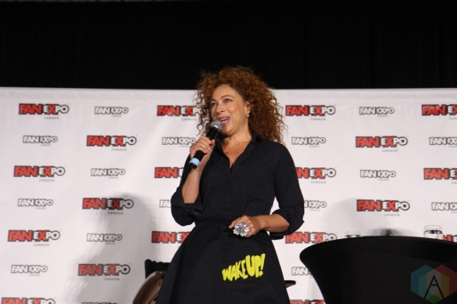 Alex Kingston (Doctor Who) at Fan Expo 2016 in Toronto. (Photo: Stephan Ordonez/Aesthetic Magazine)