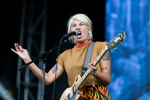Jessica Hernandez and the Deltas performing at Riot Fest Chicago on September 17, 2016. (Photo: Katie Kuropas/Aesthetic Magazine)