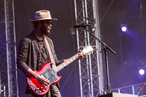 Gary Clark Jr performing at the Made In America Festival at the Benjamin Franklin Parkway in Philadelphia, Pennsylvania on September 4, 2016. (Photo: Saidy Lopez/Aesthetic Magazine)