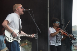 The New Pornographers performing at the Toronto Urban Roots Festival in Toronto on September 18, 2016. (Photo: Morgan Hotston/Aesthetic Magazine)
