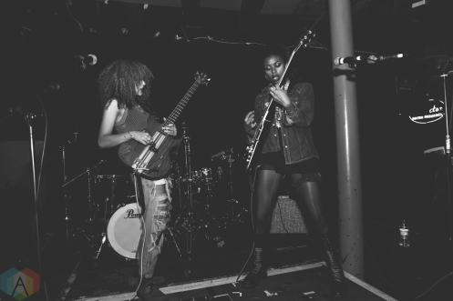 Nova Twins perform at Sound Control in Manchester, UK on September 26, 2016. (Photo: Priti Shikotra/Aesthetic Magazine)
