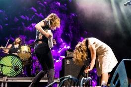 Sleater Kinney performing at Riot Fest Chicago on September 18, 2016. (Photo: Katie Kuropas/Aesthetic Magazine)