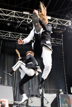 The Hives performing at Riot Fest Chicago on September 17, 2016. (Photo: Katie Kuropas/Aesthetic Magazine)