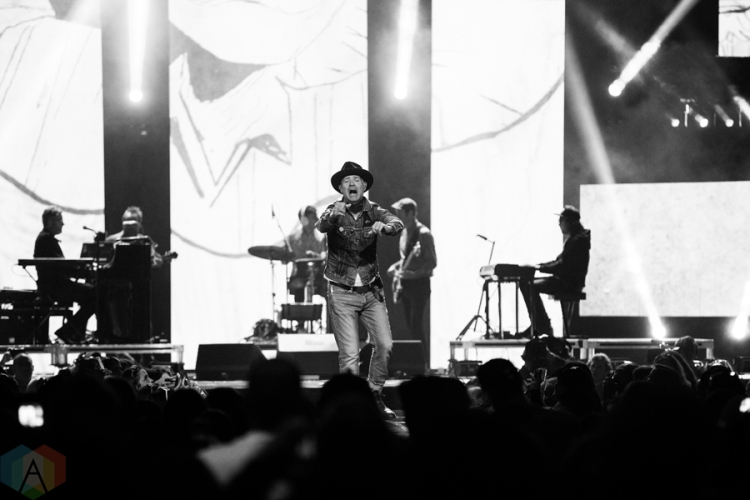 Gord Downie performs at We Day Toronto 2016 at the Air Canada Centre in Toronto on October 19, 2016. (Photo: Brandon Newfield/Aesthetic Magazine)