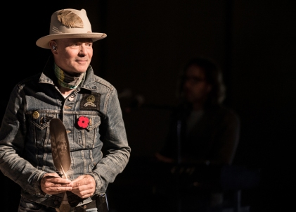Gord Downie performs at Roy Thomson Hall in Toronto on October 21, 2016. (Photo: Jag Gundu)