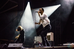 Savages perform at the Meadows Music Festival at Citi Field in Queens, New York on October 1, 2016. (Photo: Saidy Lopez/Aesthetic Magazine)