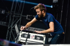 Sylvan Esso performs at the Meadows Music Festival at Citi Field in Queens, New York on October 1, 2016. (Photo: Saidy Lopez/Aesthetic Magazine)